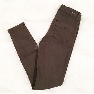 Zara Basic skinny jeans dark green size 2